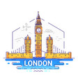 london - modern line travel vector image