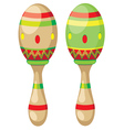 Pair of Maracas vector image