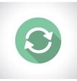 Recycle or pre-loader icon vector image
