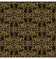 Seamless damask pattern with golden glitter vector image