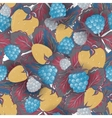 Seamless pattern of realistic image delicious ripe vector image