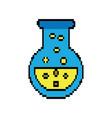 video game flask potion elixir power vector image