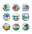 Security services color detailed icons set vector image