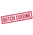 Dutch Cuisine rubber stamp vector image
