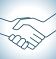 Handshake graphic vector image