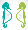 The design of the seahorse vector image