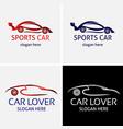 sports car logo design template vector image