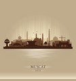 muscat oman city skyline silhouette vector image