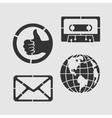 Set Symbols Stencil vector image