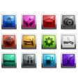 Car interface icons set vector image