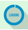 Circle loading icon flat style vector image