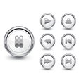chrome buttons set vector image