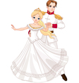 Dancing prince and princess vector image vector image