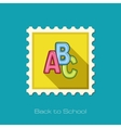 ABC blocks flat stamp vector image