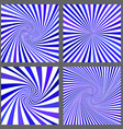 Blue spiral and ray burst background set vector image