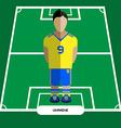 Computer game Ukraine Football club player vector image