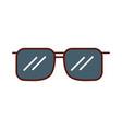 cute grey sunglasses cartoon vector image