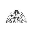 Game pad Icon Symbol vector image
