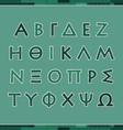 Greek alphabet letters vector image