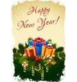 Grungy Happy New Year Greeting Card vector image