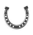 Horseshoe Lucky symbol Black icon logo element vector image