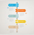 timeline infographic with business icons vector image
