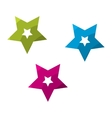 Glossy Stars Set vector image
