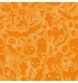 Halloween orange seamless pattern vector image