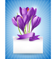 Bouquet of spring flowers with a note vector image vector image