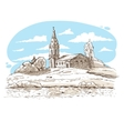 Russian Orthodox church in the village vector image