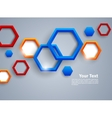 Abstract background with colorful hexagons vector image vector image