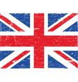 British flag grunge vector image vector image
