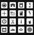 car maintenance and repair icons set squares vector image