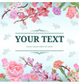 colorful vintage natural template vector image