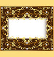 vintage background frame with vegetable golden vector image