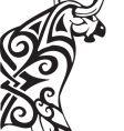 bull design vector image vector image