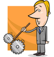 saboteur businessman cartoon vector image