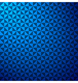 creative triangle pattern in blue background stock vector image
