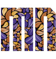 Beautiful floral alphabet letters M and N vector image