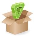 box and arrow vector image