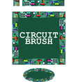 circuit brush vector image