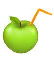 green juicy apple vector image vector image