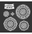 Set of ethnic mandala meditation Isolated on the vector image vector image
