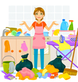 messy house vector image