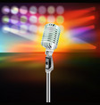 abstract background with microphone on music stage vector image