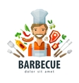 barbecue grill logo design template fresh vector image
