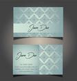 decorative business card design 0906 vector image