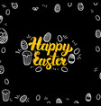 easter gold and black design vector image