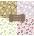 Roses vintage seamless pattern collection vector image