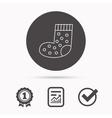 Sock icon Baby underwear sign vector image